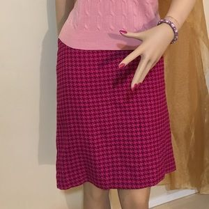 Merona pink houndstooth pencil skirt.